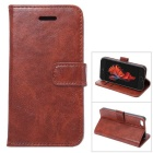 Wallet caso w / stand / Slots de Cartão para iPhone SE / 5S / 5 - Brown