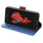 Wallet Case w/ Stand / Card Slots for IPHONE SE / 5S / 5 - Blue