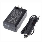 LPE17 Digital Camera Battery Charger + Car Charge Cable - Black