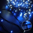 Solar Powered Decorative Twinkle Blue Light LED Light String - Black