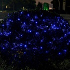 Solar Powered Decorativo Twinkle Azul Luz LED Light String - Negro