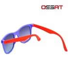Ossat MX-1008 Protection UV400 Lunettes de soleil - Orange + Violet