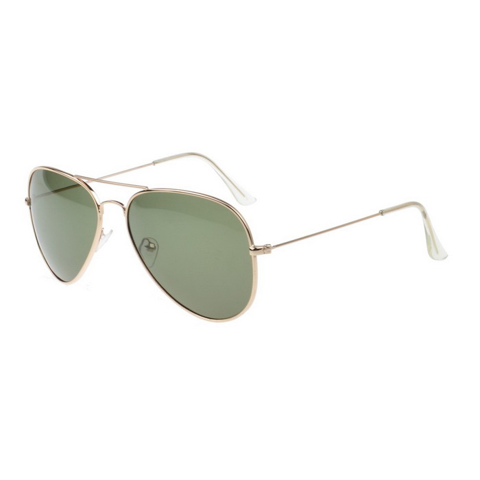SENLAN 3026P2 UV400 Protection Sunglasses - Golden + Dark Green