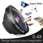 Oldshark 0.4X Super Wide Angle Camera Lens for IPHONE - Black