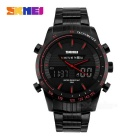 SKMEI Dual Display Men's Watch - Preto + Vermelho (1 * CR2025 / 1 * SR626SW)