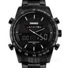 SKMEI Dual Display Men's Watch - Black + White (1*CR2025 / 1*SR626SW)