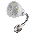 Qook E27 23 Warm White LED IR Infrared PIR Motion Sensor Detector Lamp