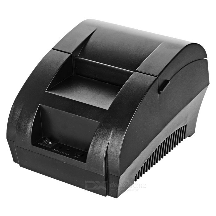 58mm USB Thermal Cash Receipt Printer - Black (EU Plug)