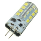 Marsing G4 4W 500lm LED Cold White Crystal Lamp - White + Yellow