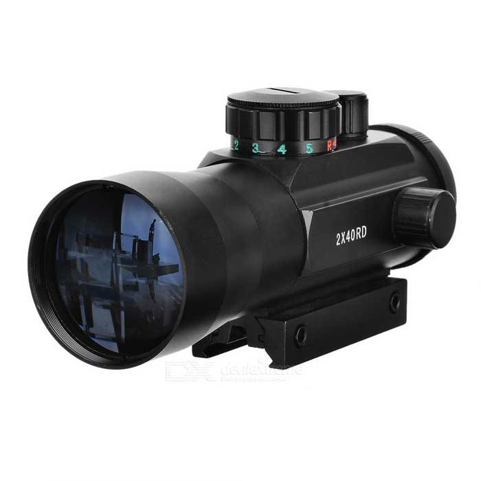 2X40mm Gun Optical Sight Scope - Schwarz
