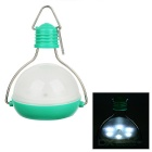 Solar Powered 1W LED 2-Mode Lantern Light - Green + Translucent White
