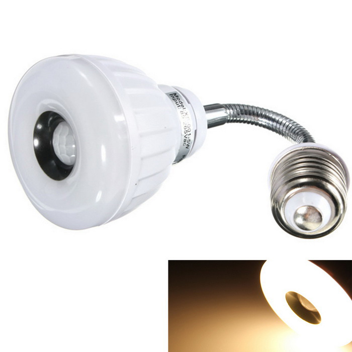 Qook Wi10X001 E27 25 Warm White LEDs PIR Motion Sensor Lamp - WhiteOther Connector Bulbs<br>Form  ColorWhiteColor BINWarm WhiteModelWi10X001MaterialLEDQuantity1 DX.PCM.Model.AttributeModel.UnitPower5WRated VoltageAC 85-265 DX.PCM.Model.AttributeModel.UnitConnector TypeE27Emitter Type3528 SMD LEDTotal Emitters25Actual Lumens400 DX.PCM.Model.AttributeModel.UnitColor Temperature12000K,Others,2500-3000KDimmableNoPacking List1 x LED bulb<br>