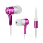 3,5 mm universal del enchufe de gato con cable In-Ear - De color rosa oscuro + plata