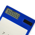 "Solar Rechargeable 8-Digit Calculator w/ 1.5"" Touch Screen - Green"