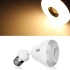 Qook E27 5W Warm White Light IR Sensor LED Bulb - White (AC 85~265V)
