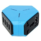 4-Port USB Power Socket - Blue