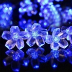 6W Flower Starry Blue Light LED String Light - Transparent (30ft)