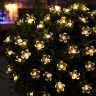 6W Flower Starry Warm White LED String Light - Transparent (33ft)
