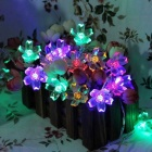 6W Flower Starry Colorful Light LED String Light - Transparent (33ft)