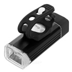 USB Powered 217lm White Bike Headlamp / Cycling Flashlight - Black