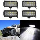 60W 12-LED Car Working Light Bar - Black (DC 10~30V / 4PCS)
