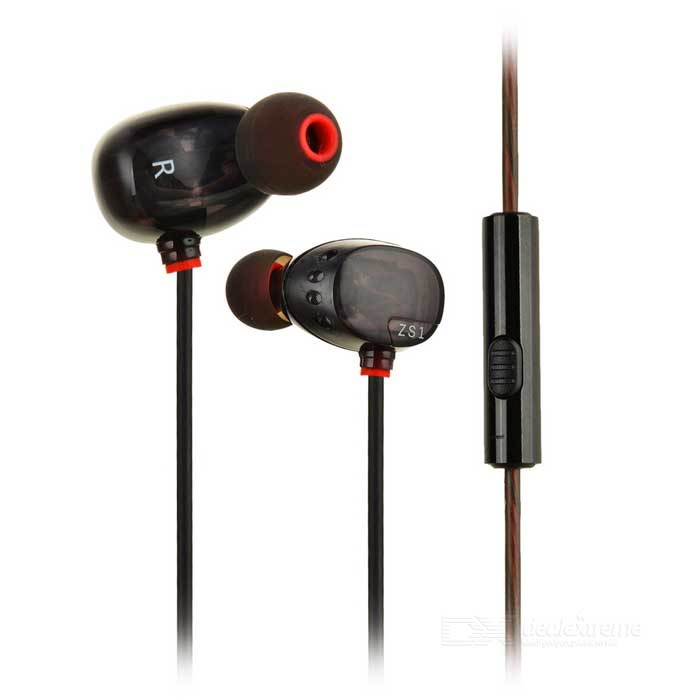 KZ ZS1 3.5mm Plug In-ear Earphone - Black