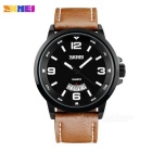 SKMEI Waterproof Men's Watch w/ Calendar - Brown + Black (1 * SR626SW)