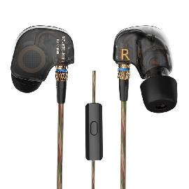 KZ ATE Universal 3.5mm Plug In-ear Earphone - Translucent Black