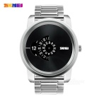 SKMEI Creative Rotary Dial Pointer Men's Watch - Silver (1 * SR626SW)