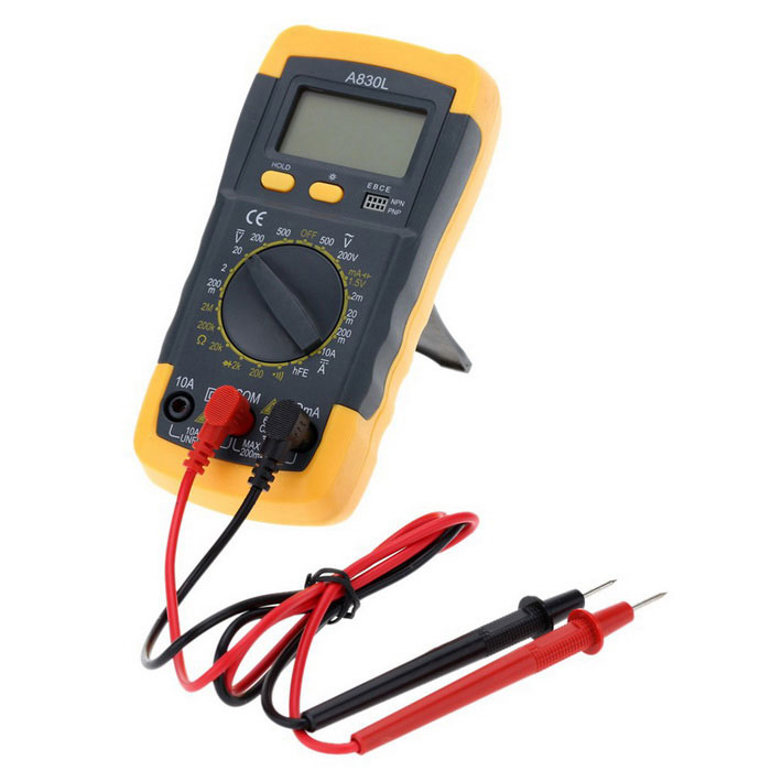 Check For Continuity Voltmeter : Mini digital multimeter w lcd backlight black yellow