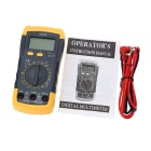 Mini Digital Multimeter w/ LCD Backlight - Black + Yellow