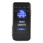 IZTOSS S1005 5Pin Rocker Switch w/ 2-LED Blue Indicator Light - Black