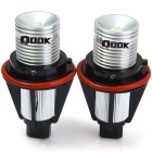 Qook H8 3W LED branco de Halo Angel Eyes Luzes para BMW E39 E60 E63 (Par)