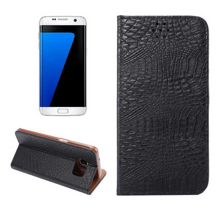 Crocodile Grain PU Case for Samsung Galaxy S7 Edge G9350 - Black