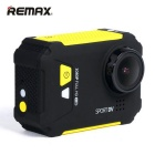 "REMAX SD01 1.5"" LCD Wi-Fi Waterproof Anti-Shake Sports Camera - Yellow"