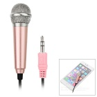 3.5mm Mini Microphone for Cellphone, Computer, Karaoke - Golden