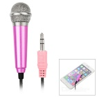3.5mm Mini Microphone for Cellphone, Computer, Karaoke - Pink