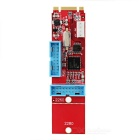 2-19 Pin USB 3.0 NGFF Adapter Card - Red + White