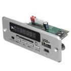 M409 12V Digital Audio MP3-Player-Modul w / FM & USB - Silber + Grün