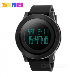 SKMEI 50m Waterproof Big Dial Sports Watch - Black (1 * CR2025)