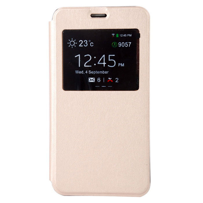 Suojaava PU Leather Smart Full Body kotelo Cubot Note S - Golden