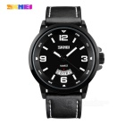 SKMEI Waterproof Men's Watch w/ Calendar - Black + White (1 * SR626SW)