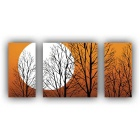 Frameless Landscape Printing Canvas Print Painting w/ 3 Panel - Orange