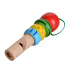 Carp Style Mini Wooden Trumpet / Whistle Toy - Blue + Red + Multicolor