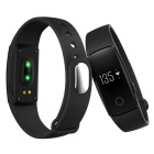 ZS107 Green Light LED Bluetooth V4.0 Smart Bracelet - Black