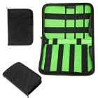 Hugmania Outdoor Travel Portable Storage Bag - Green + Black