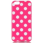 Dot Pattern TPU Back Case for IPHONE 6 / 6S - Dark Pink + White