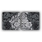 Frameless Flower Printing Canvas Print Painting w/ 2 Panels - Grey