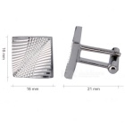 Angled Laser Design Cufflinks for Men - Silver (Pair)