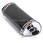 Motorcycle Triangle Shape Exhaust Pipe Silencer Muffler - Black